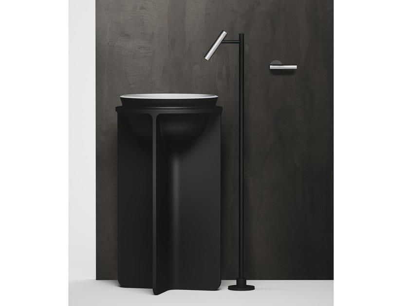 CILINDRO | Robinet pour lavabo à fixation au sol