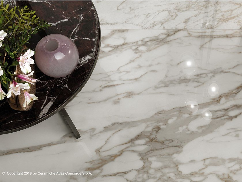 Porcelain stoneware flooring with marble effect MARVEL EDGE | Flooring by Atlas Concorde