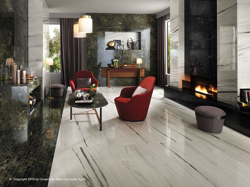 Porcelain stoneware flooring with marble effect MARVEL DREAM | Flooring by Atlas Concorde