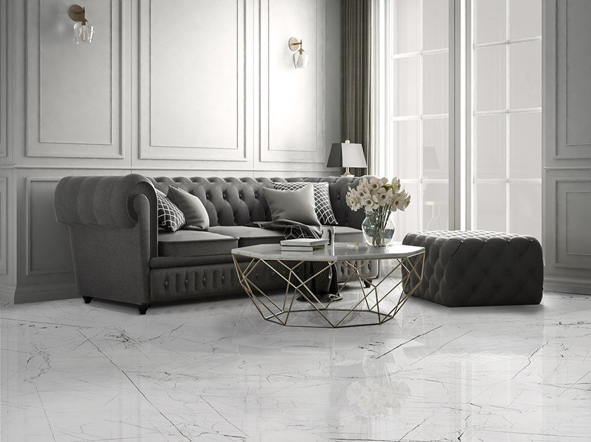 Porcelain stoneware wall/floor tiles with marble effect PANDORA | Flooring by ITT Ceramic