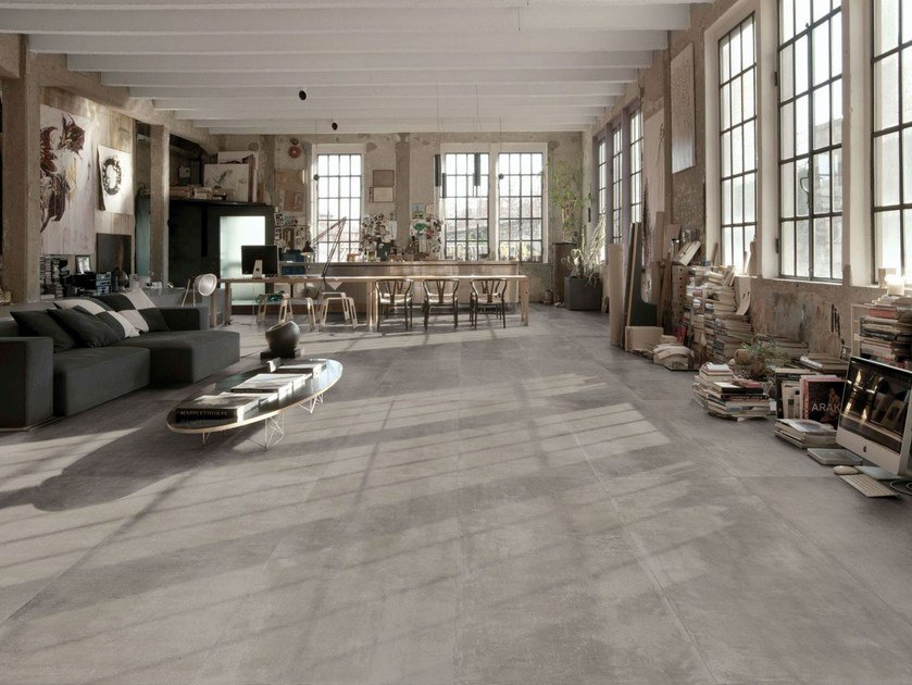 Porcelain stoneware wall/floor tiles with concrete effect MEMENTO | Wall/floor tiles by MARAZZI