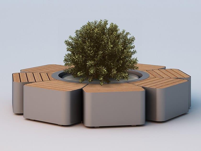Panchina circolare con fioriera integrata FLORA BIG by DIMCAR