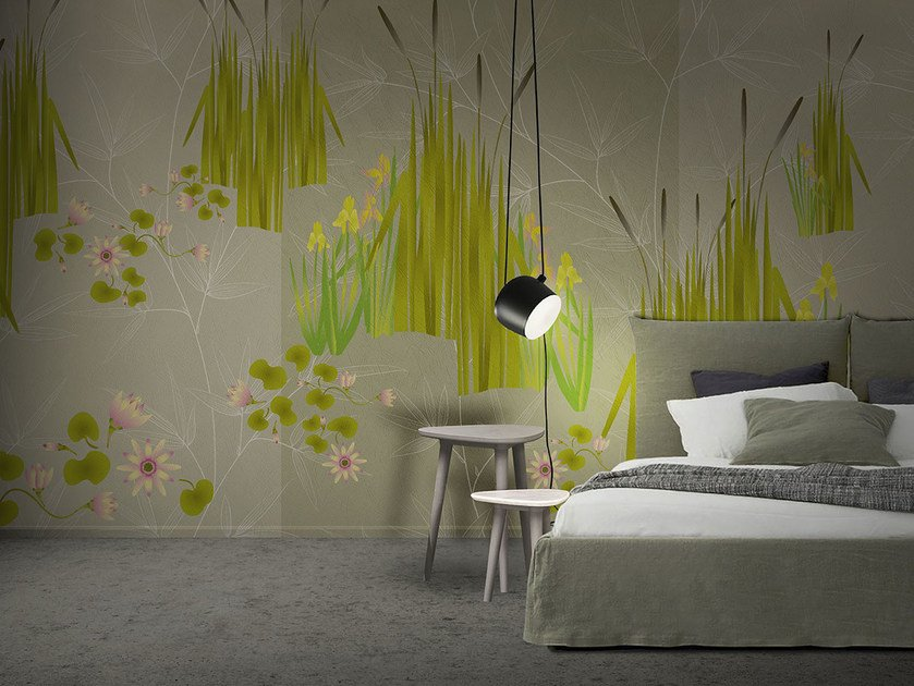 Vinyl or fyber glass wallpaper FLORA & FAUNA / CANNETO by N.O.W. Edizioni