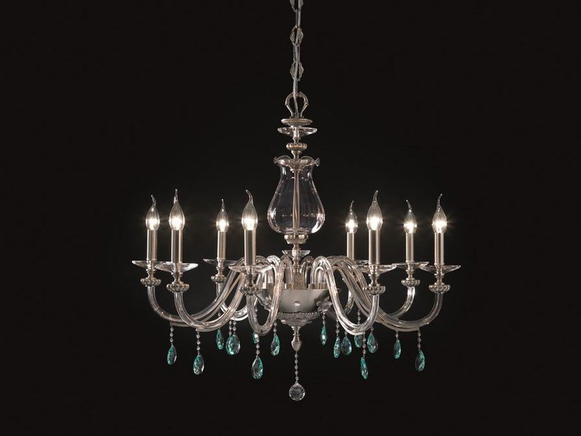Chandelier with Swarovski® Crystals FLORA L8 by Euroluce Lampadari