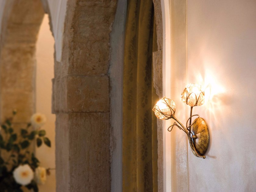 Murano glass wall lamp FLORA MB 288 by Siru
