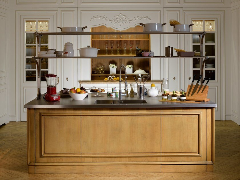 FLORAL | Cucina con isola By L\'Ottocento