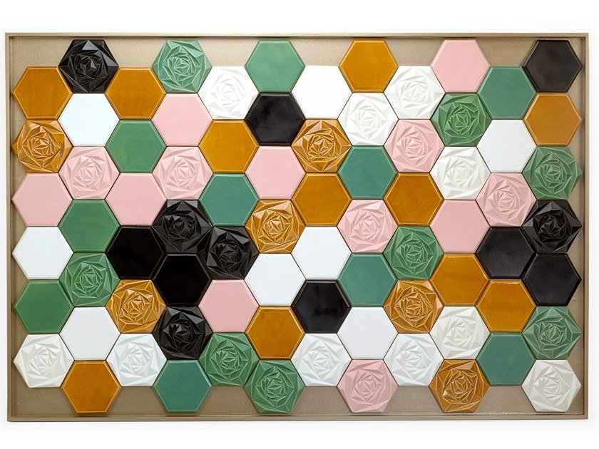 Ceramic Decorative panel FLORAL by Mambo Unlimited Ideas