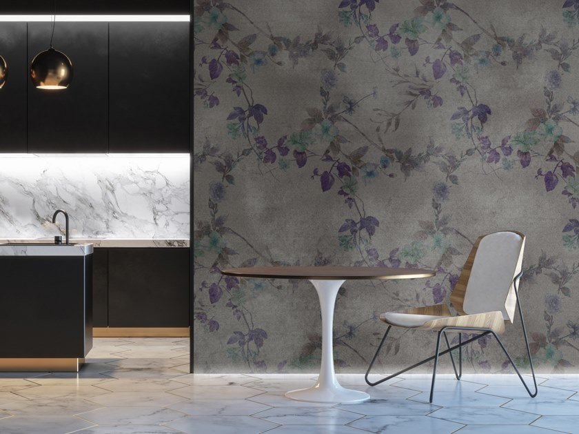 Vinyl wallpaper with floral pattern FLOREAL PARADISE by Baboon