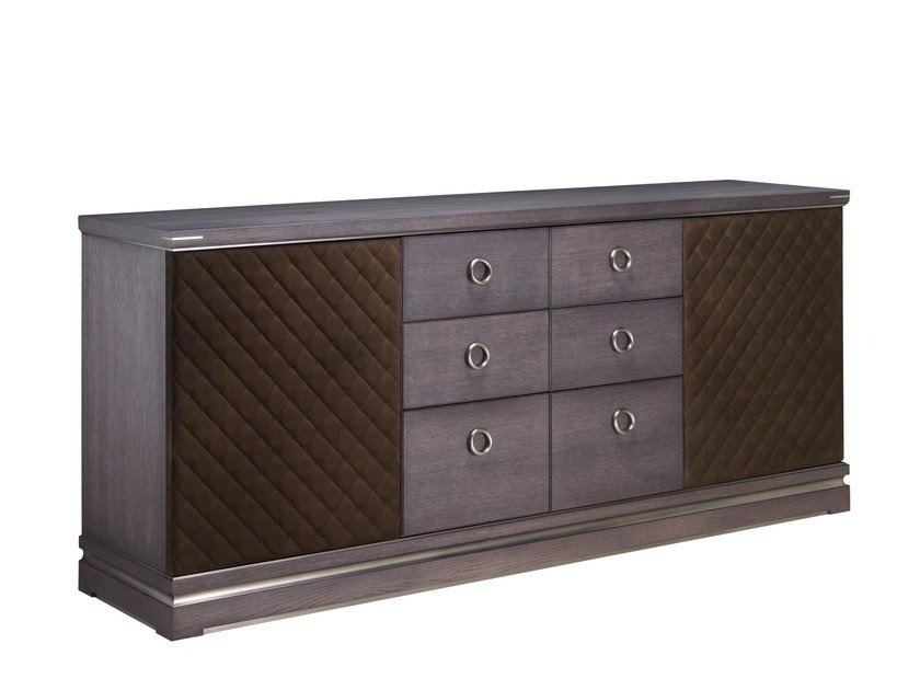 Nabuk sideboard with drawers FLORENCE | Nabuk sideboard by L'Origine