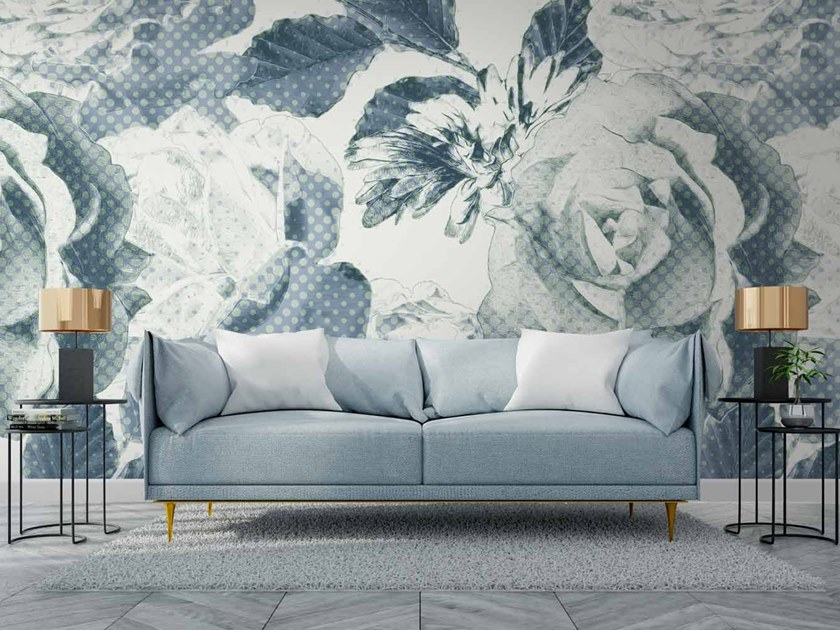 Digital printing wallpaper with floral pattern FLORUR by LGD01
