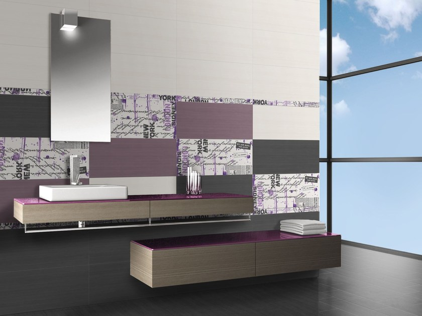 Indoor white-paste wall tiles FLOU CITY by CERAMICHE BRENNERO