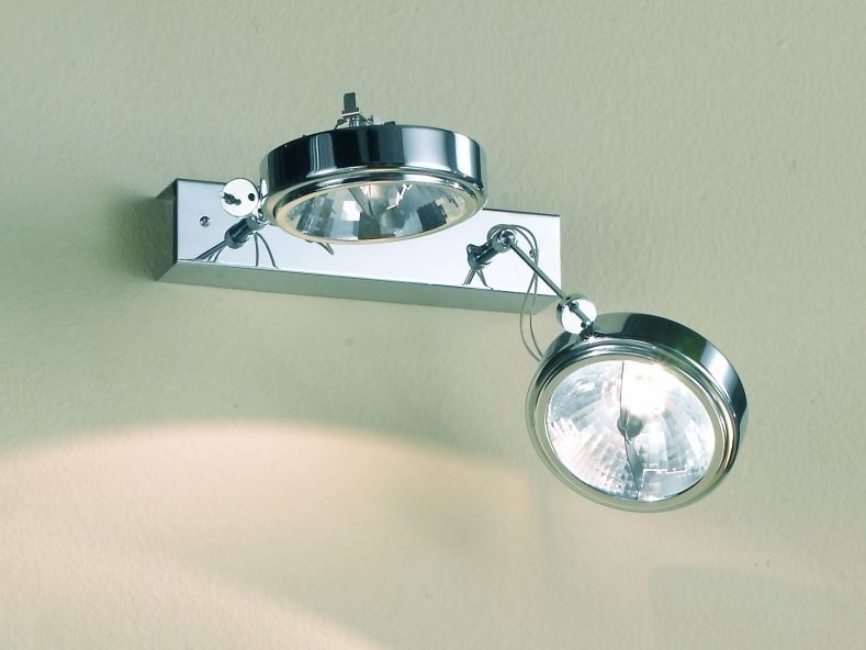 Adjustable metal spotlight with dimmer FLOW 02 by LUCIFERO'S