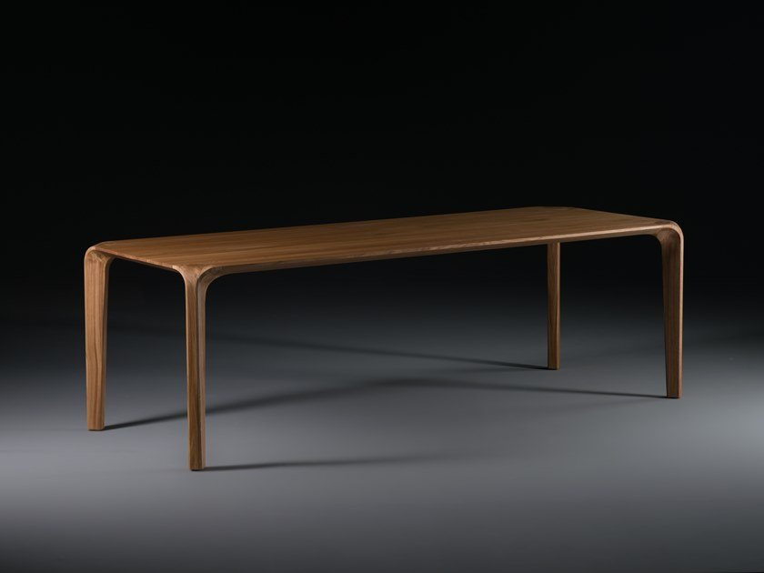 Rectangular solid wood dining table FLOW | Table by Artisan