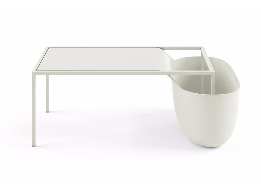 Rectangular coffee table with storage space FLOW BOWL - 10G by Alias