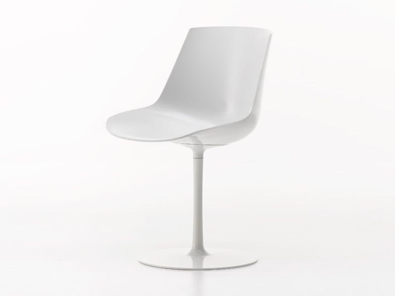 Sedia girevole in policarbonato FLOW CHAIR | Sedia girevole by MDF Italia