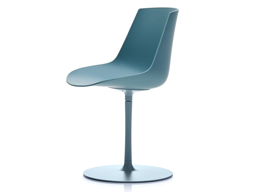 Swivel polycarbonate chair FLOW COLOR | Swivel chair by MDF Italia