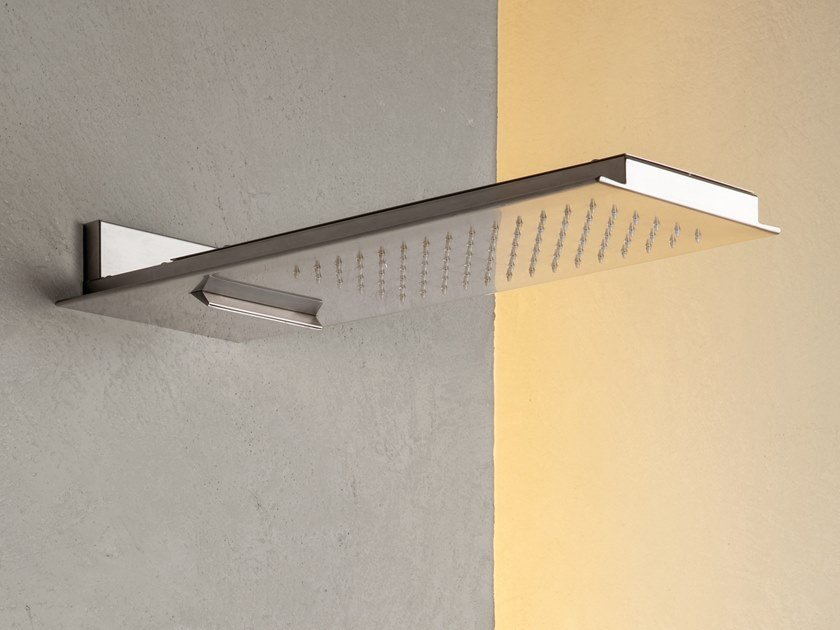 Wall-mounted rectangular rain shower FLOW.ERS 410.26.100 by WEISS-STERN