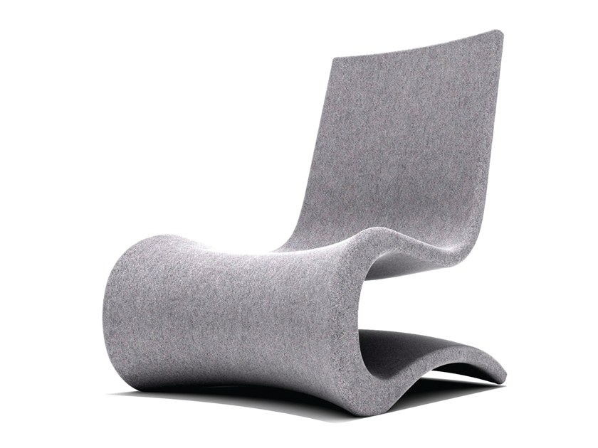 Cantilever fabric armchair FLOW | Fabric armchair by B&T Design