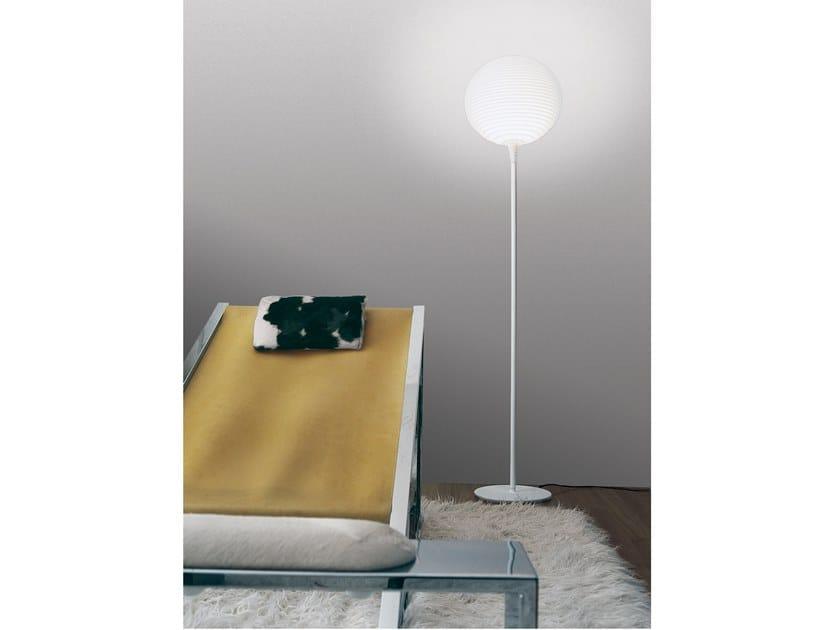 LED polycarbonate floor lamp FLOW   Floor lamp by Rotaliana