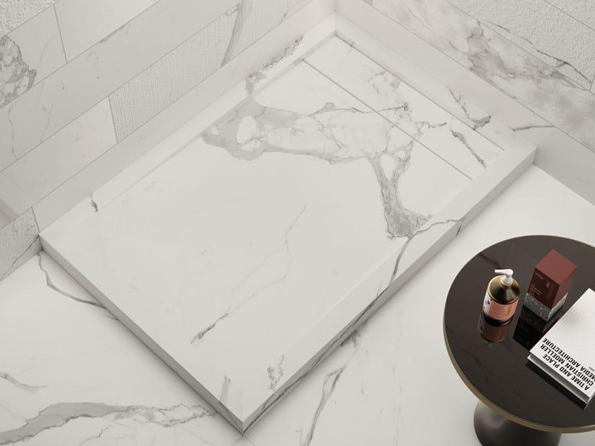 Piatto doccia rettangolare in gres porcellanato FLOW by Italgraniti