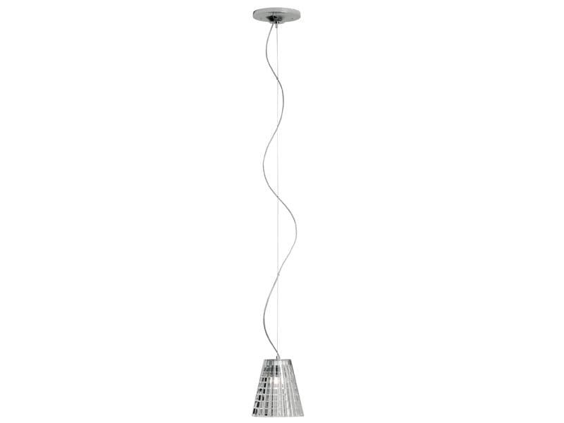 Glass pendant lamp FLOW   Halogen pendant lamp by Fabbian