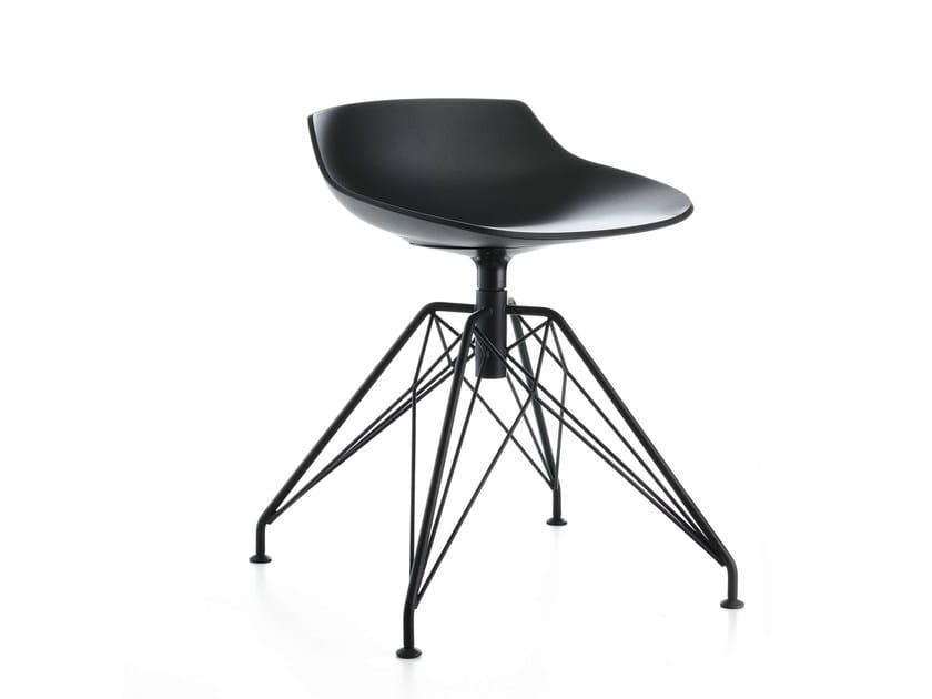 Swivel trestle-based stool FLOW STOOL | Stool by MDF Italia