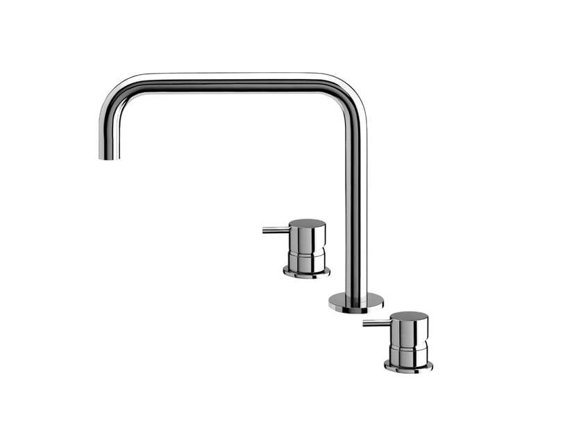 Robinet pour lavabo en laiton chromé FLOW T1.12H.3F | Robinet pour lavabo by Water Evolution