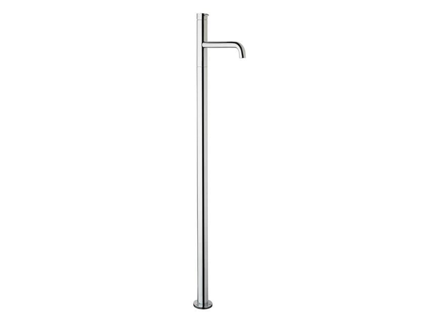Floor standing chromed brass washbasin tap FLOW T1.13 | Washbasin tap by Water Evolution