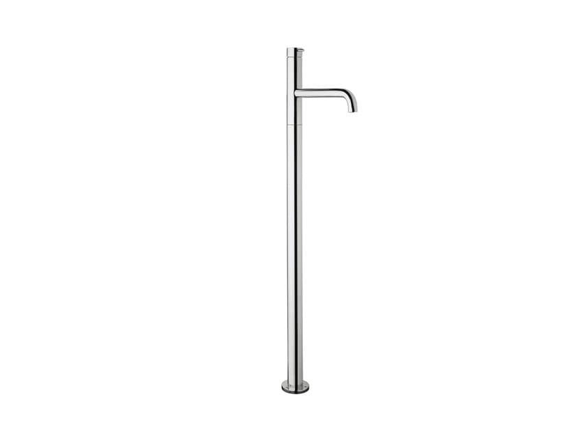 Robinet pour baignoire en laiton chromé à fixation au sol FLOW T1.34 | Robinet pour baignoire by Water Evolution