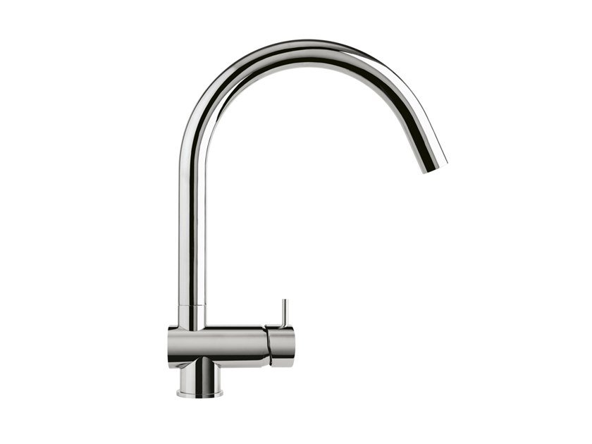 Chromed brass kitchen tap FLOW T1.55 | Kitchen tap by Water Evolution