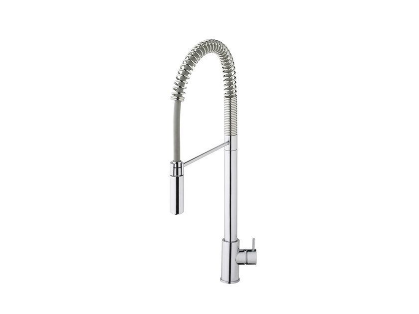 Chromed brass kitchen tap FLOW T1.57 | Kitchen tap by Water Evolution