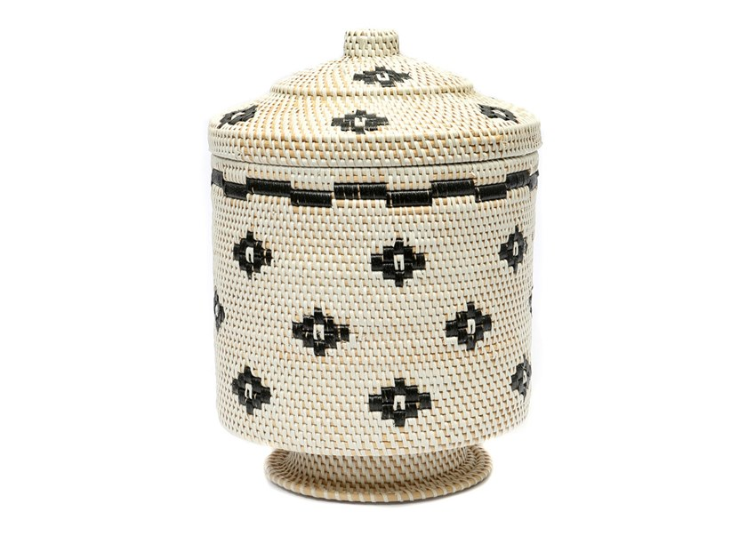 Rattan basket FLOWER HIGH by Bazar Bizar
