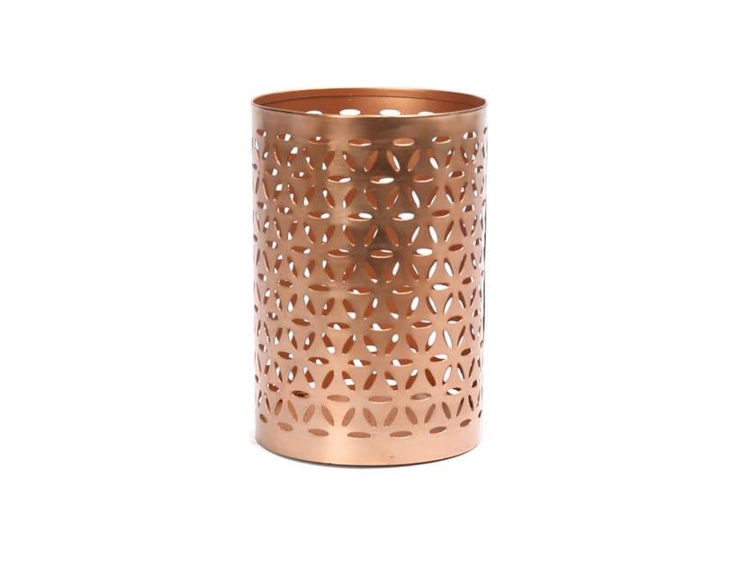 Metal plant pot / candle holder FLOWER PETAL by Bazar Bizar