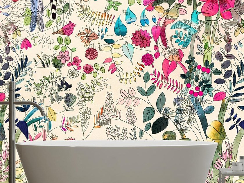 Tropical wallpaper, PVC free, eco, washable FLOWERS & NATURE by Wallpepper