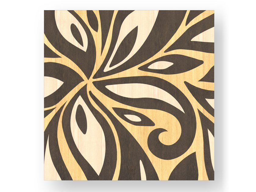 Quadro in legno intarsiato FLOWERS WARM by LIGNIS®