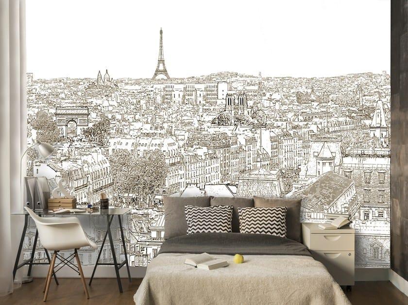 Adhesive panoramic landscape wallpaper FLUCTUAT NEC MERGITUR by MYFRESKO
