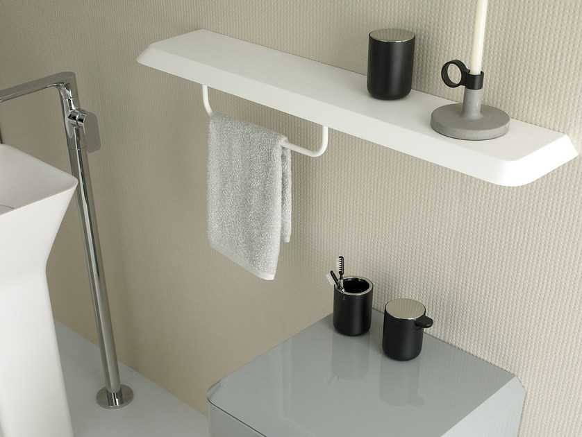 Towel Rack Bathroom Wall Shelf Fluent By Inbani