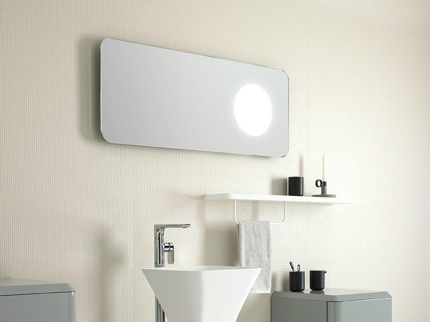 Rectangular mirror with integrated lighting FLUENT   Rectangular mirror by INBANI