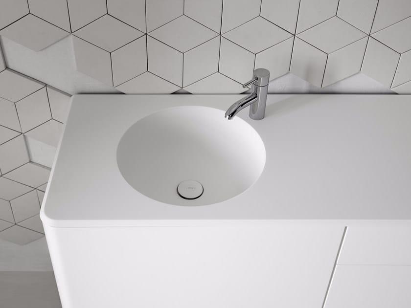Round washbasin with integrated countertop FLUENT   Round washbasin by INBANI