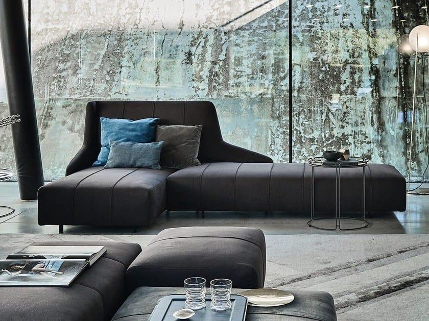 Fabric sofa with chaise longue FLUID | Sofa with chaise longue by Ditre Italia