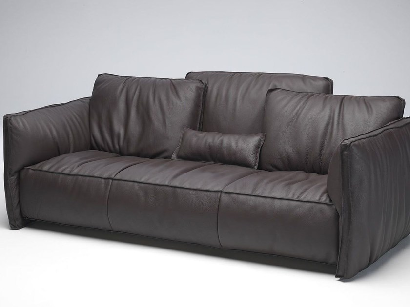 Sectional leather sofa FLUON | Leather sofa by Paolo Castelli
