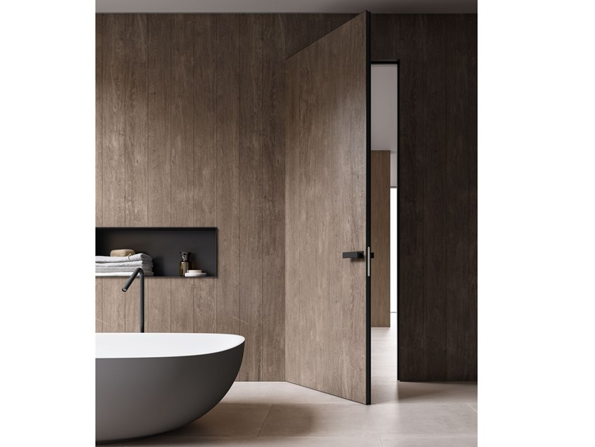Hinged flush-fitting door MATERICA | Flush-fitting door by ADIELLE