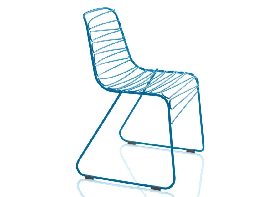 Sled base metal chair FLUX by Magis