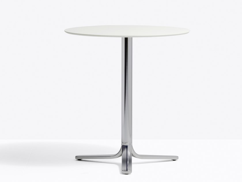 Aluminium high table with 3-star base FLUXO 5460 by PEDRALI