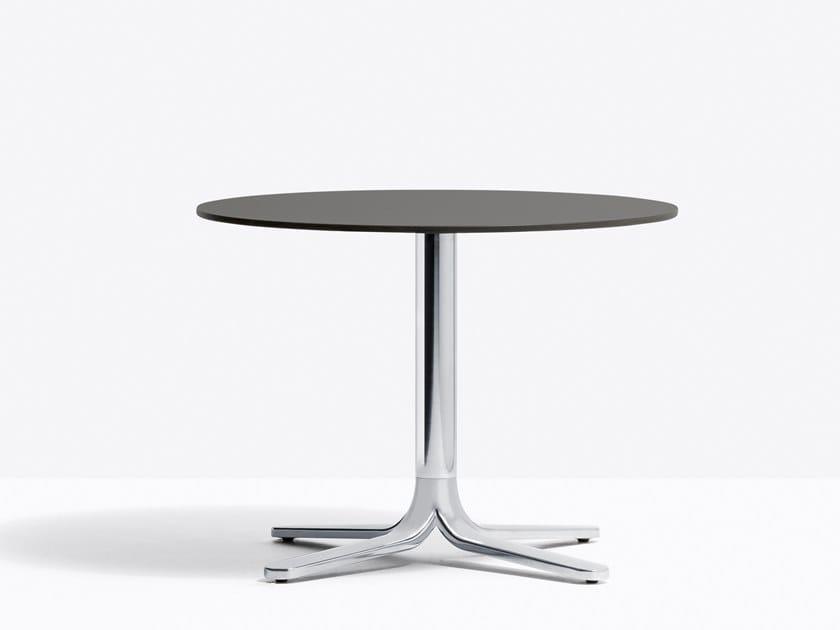 Round aluminium bistro side table FLUXO 5463_H500 by PEDRALI