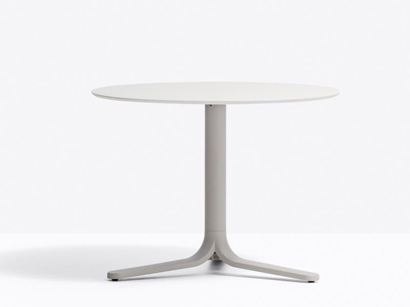 Pedrali 5463 Tavolino Alluminio Contract In Rotondo Per h500 Fluxo ikuZPX