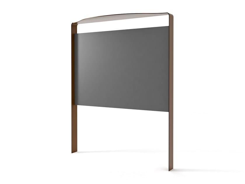 Freestanding double-sided steel notice board FLUXUS | Notice board by LAB23