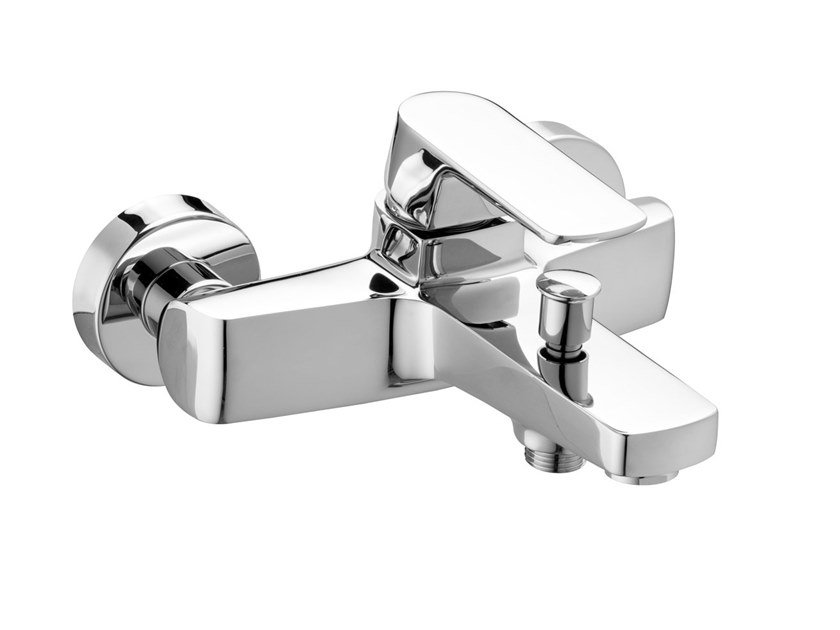 Wall-mounted bathtub mixer with diverter FLY   Bathtub mixer by BIANCHI RUBINETTERIE