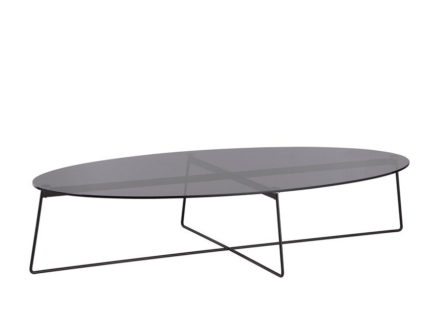 Oval glass coffee table FLY | Glass coffee table by B&T Design