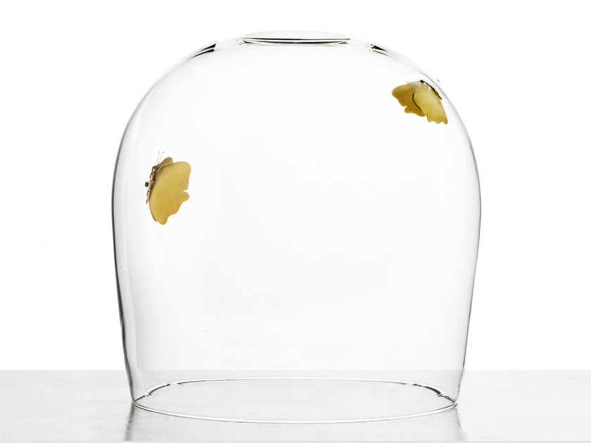 Glass decorative object FLY IN THE BUTTER by Secondome Edizioni